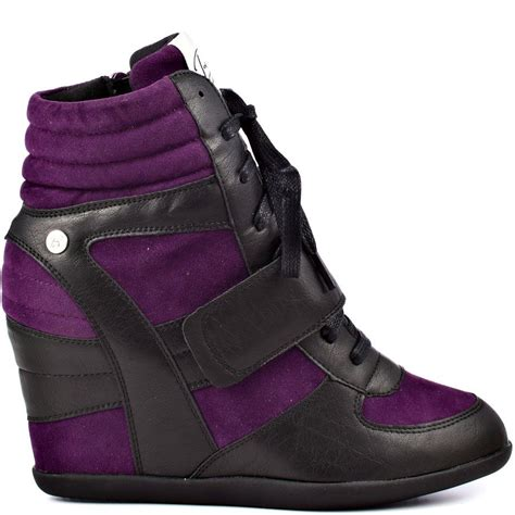 Sneakers Blink Black purple and black wedge sneakers if the shoe fits wear