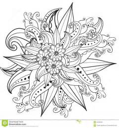 pages coloring book hand drawn ornamental patterned floral frame doodle style