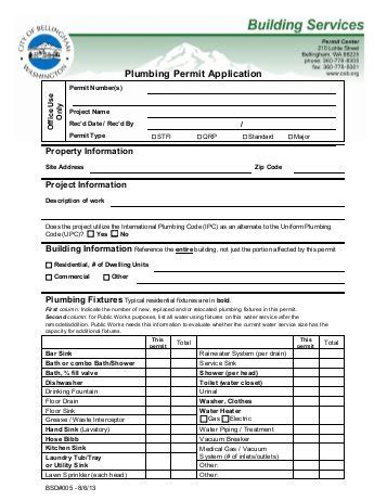 When Is A Plumbing Permit Required by Application For Plumbing Permit City Of Southfield