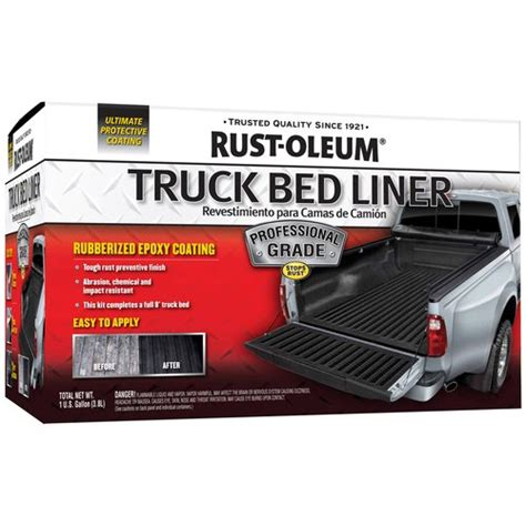 rustoleum bed liner spray rust oleum 1gal kit pro grade truck bed walmart com