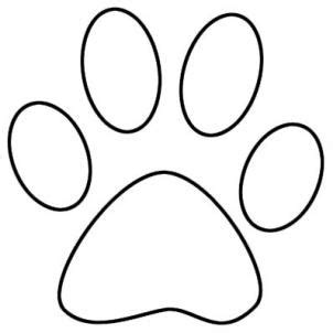 paw print coloring page how to draw a tiger paw print cliparts co