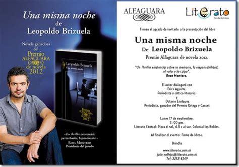 una misma noche premio una misma noche de leopoldo brizuela vianica com calendario de eventos
