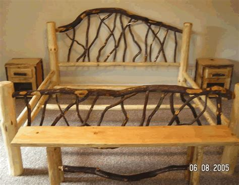 Log Frame Beds Branch Bed Frame Things I D Like To Make Log Bed Frame Rustic Bed And Logs