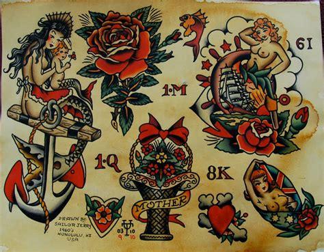 tattoo flash sailor jerry tattoo union september 2010