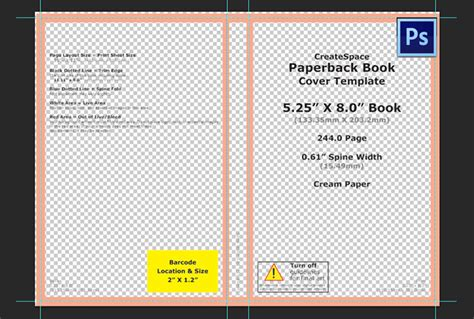 Create You A Custom Photoshop Template To Design Your Createspace Book Createspace Coloring Book Template