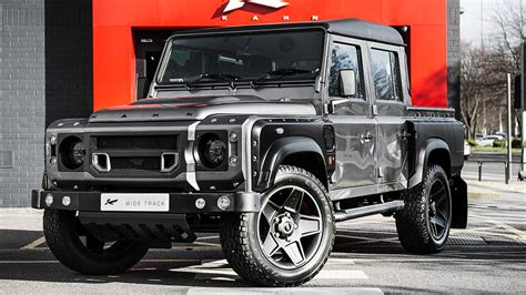 kahn land rover defender 110 kahn reveals land rover defender xs 110 pick up in corris grey