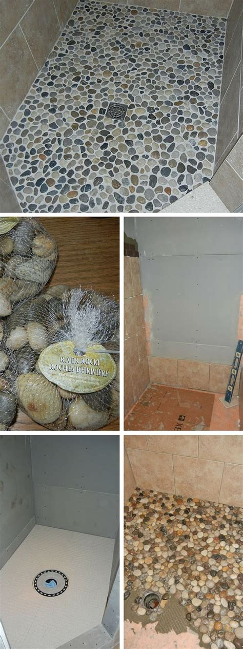 Diy Bathroom Tile Ideas by Best 25 River Rock Bathroom Ideas On Pinterest River