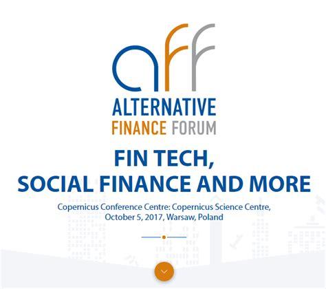 Social Finance alternative finance forum fin tech social finance and