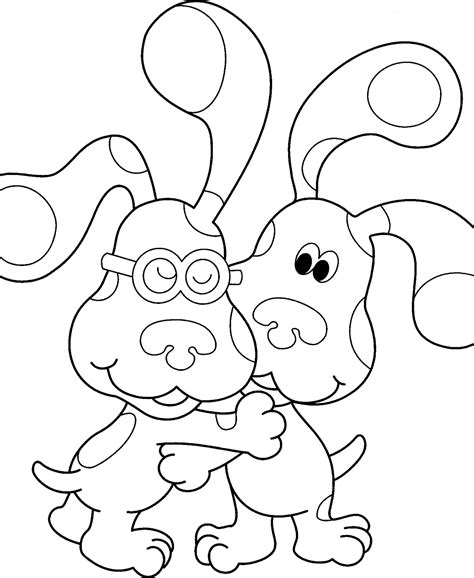 printable coloring books free printable blues clues coloring pages for