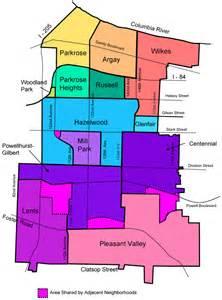 portland oregon crime map map of east portland neighborhoods east portland