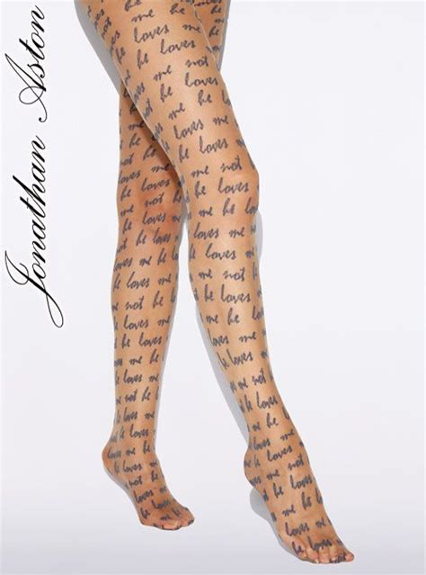 patterned tights and socks jonathan aston he loves me tights thigh highs stockings