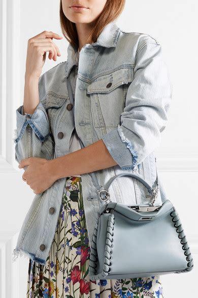 Mccarthy Whips Out The Fendi Again by Fendi Peekaboo Mini Whipstitched Leather Shoulder Bag