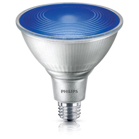 Led Blue Light Bulb Philips 90w Equivalent Par 38 Blue Led Flood Light Bulb 469072 The Home Depot