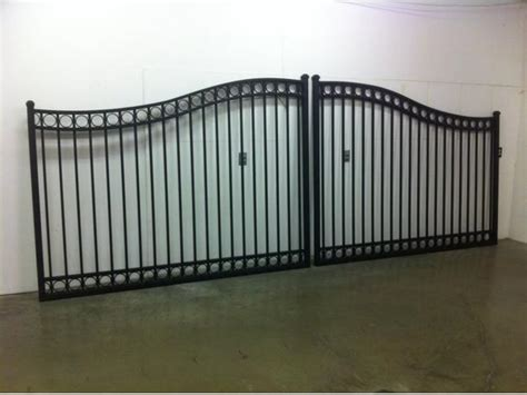 dual swing gate dual swing aluminum gate rome style outside alberni valley