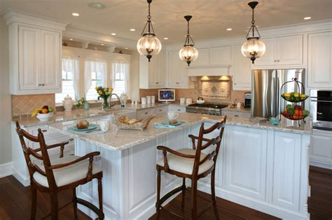Pendant Lighting Kitchen Island Ideas by Beach House Kitchens Beach Style Kitchen