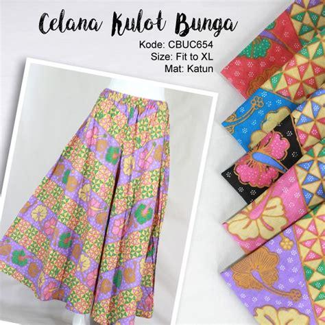 Celana Kulot Katun Bunga celana kulot motif bunga baris celana murah batikunik