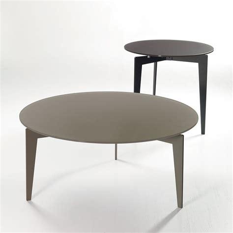 tavolino soggiorno nordic tavolino da soggiorno rotondo in acciaio e vetro