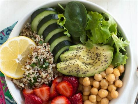 Backyard Bowls Green Bowl Calories Berry Green Buddha Bowl With Lemon Avocado Kale Mint