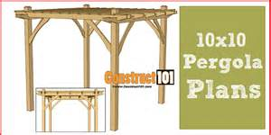 10x10 pergola plans pdf download construct101