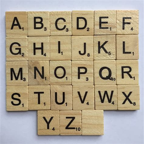help with scrabble letters 100 pieces mix alphabet wooden scrabble letters