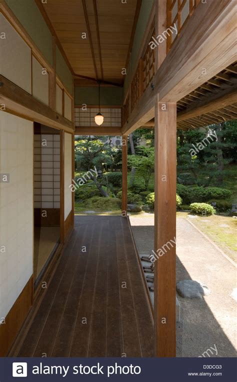 open veranda covered wooden veranda open to view of japanese