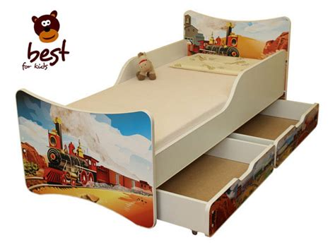 bett 90x180 cot bed junior bed 4 sizes with two drawers ebay