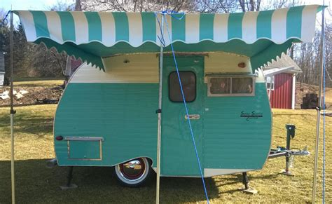 vintage awning vintage trailer awnings national serro scotty organization