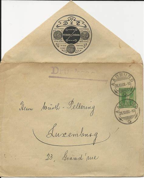 Brief Schweiz Luxemburg Schweiz 1908 5 C Privat Ganzsache Brief V Aarburg N