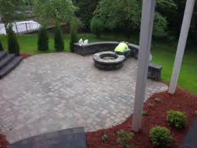 Patios With Fire Pits by Landscaping Lewis Irrigation And Landscape Contract