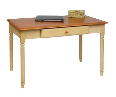 Small Wood Writing Desk Wood Cherry Country Buttermilk Finish Computer Writing Desk W Drawer Desks Home Office