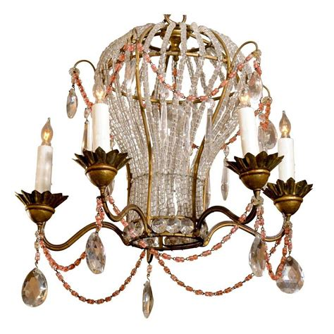 Chandelier Shapes Five Light Balloon Shape And Glass Chandelier With Colored Accent