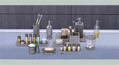 Bathroom Decor Objects Bathroom Clutter At Soloriya 187 Sims 4 Updates