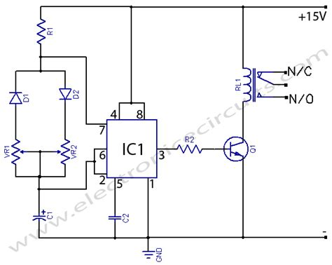 555 delay timer circuit diagram timer with on delay electronic circuits