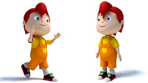 3d Kid rigged kid character 3d model
