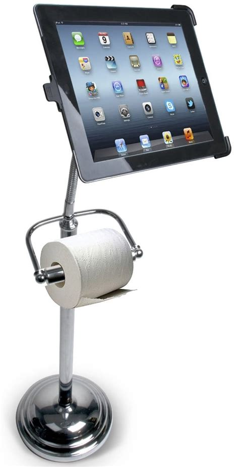 ipad holder bathroom toilet paper holder for techies it doubles as a bathroom