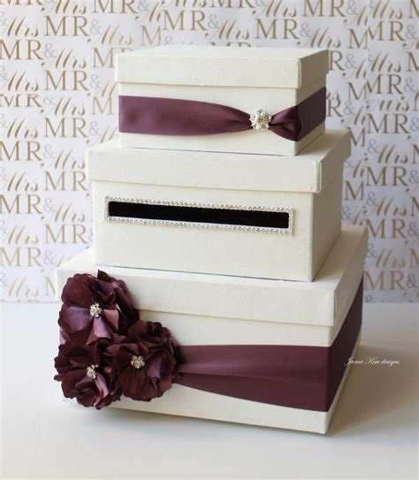 Wedding Reception Gift Card Boxes - wedding card box money gift holder custom made to order