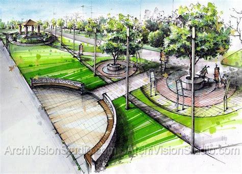 Landscape Design Rendering Sles Of Architecture Renderings Using Felt Tip Pens
