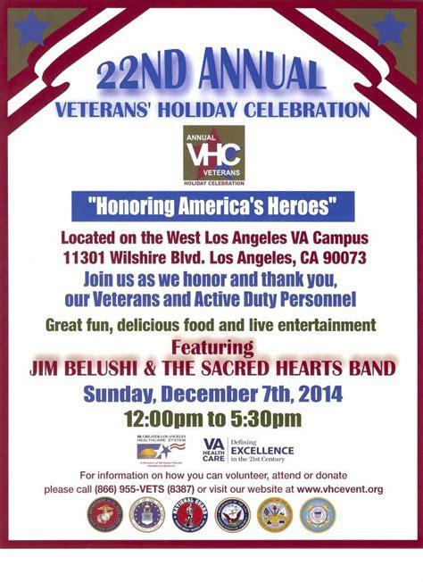 annual veterans holiday celebration sunday dec