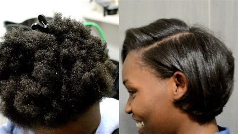 blowout on hair silk blowout on 4c natural hair detailed steps