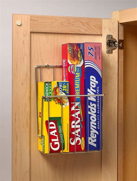 cabinet door kitchen wrap organizer mounted kitchen wrap organizer chrome in food wrap holders