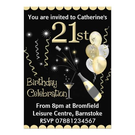 8 000 21st Birthday Invitations 21st Birthday Announcements Invites Zazzle 21st Birthday Template