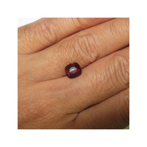 Batu Garnet Merah Kotak batu permata garnet merah alami bentuk cushion 2 25cts