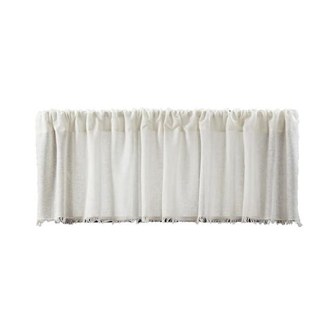 antique white curtains tobacco cloth antique white curtain valance
