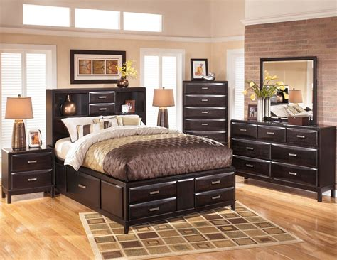 Size Bedroom Sets by Storage Platform Bedroom Set From B473 64 65