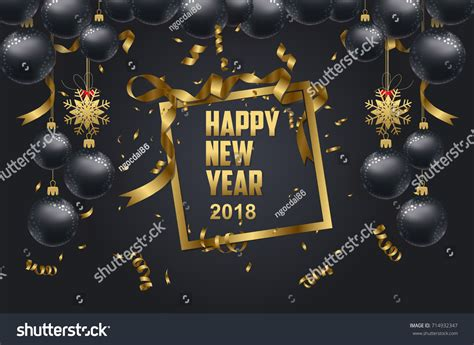 new year gold envelopes happy new year 2018 background stock vector