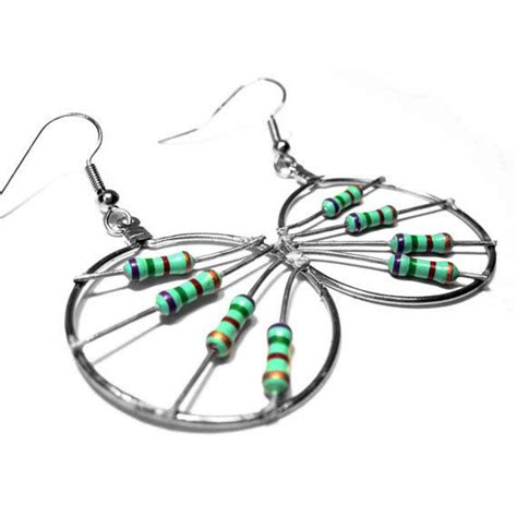 computer resistor jewelry 32 best images about high tech jewelry on green electronic parts and electronics