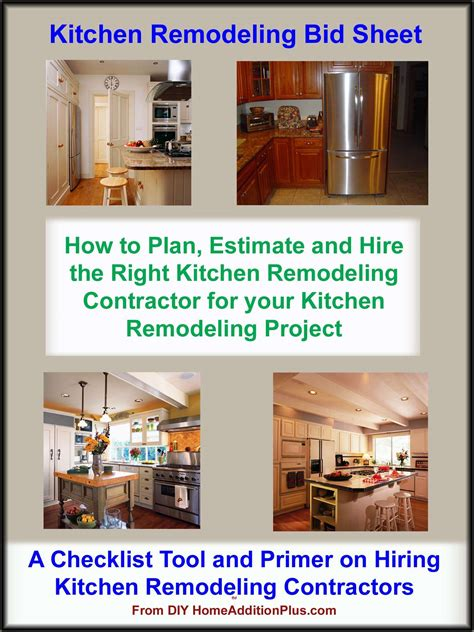 kitchen remodeling bid sheet kitchen remodeling costs