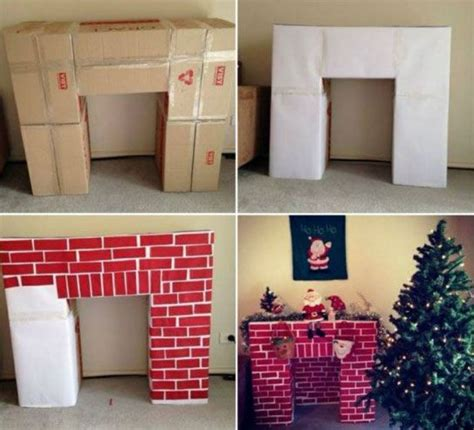 Cardboard Fireplace by 25 Unique Cheap Decorations Ideas On