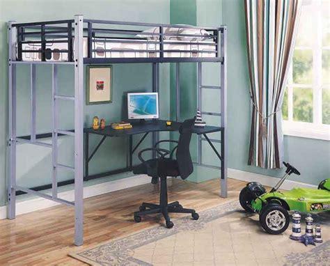 bunk bed computer desk metal workstation loft bunk bed bunkbed computer desk