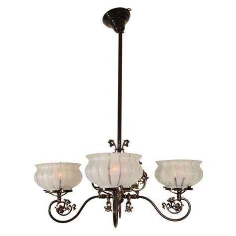 Four Light Originally Gas Victorian Light Fixture At 1stdibs 4 Light Pendant Fixture